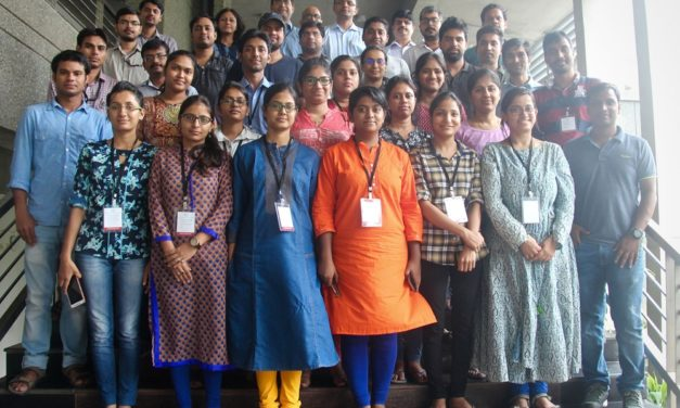 Students learn concepts of electrochemistry at IITGN