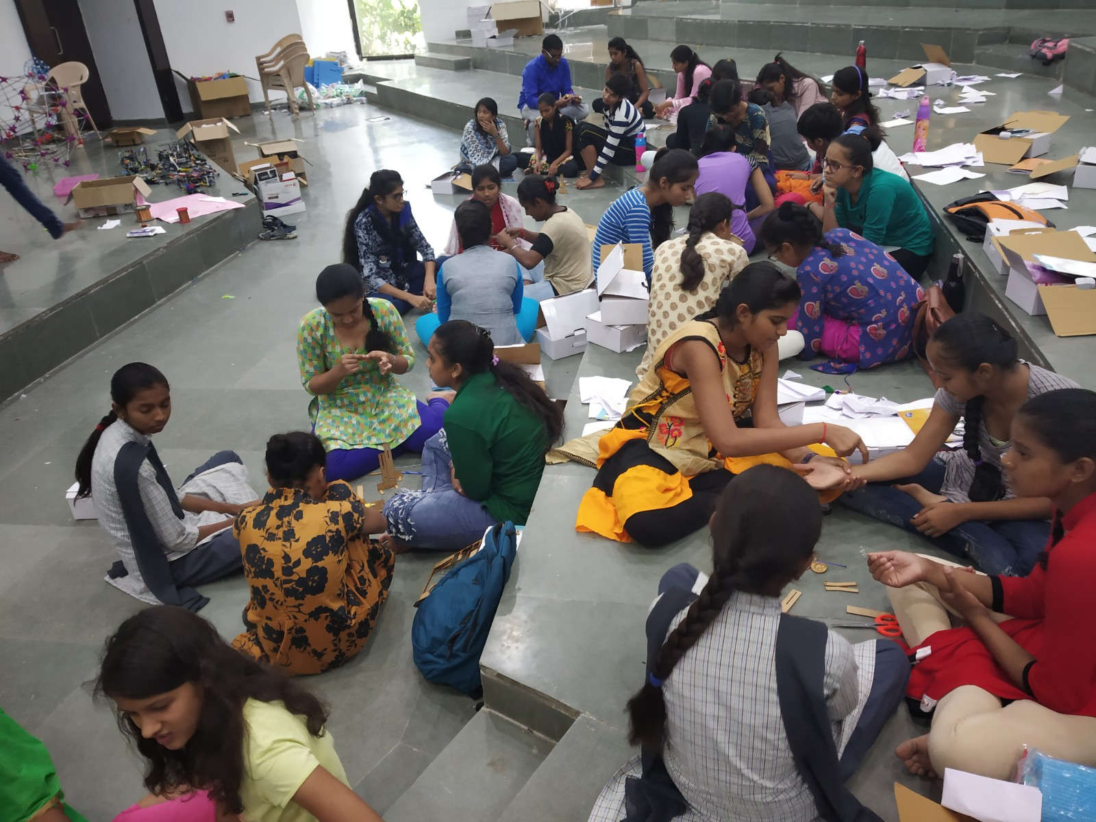 Standard XI girls at Vigyan Jyoti STEM Camp