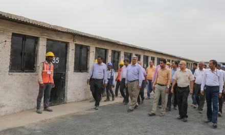 Committed to construction workers' welfare, the next set of housing inaugurated