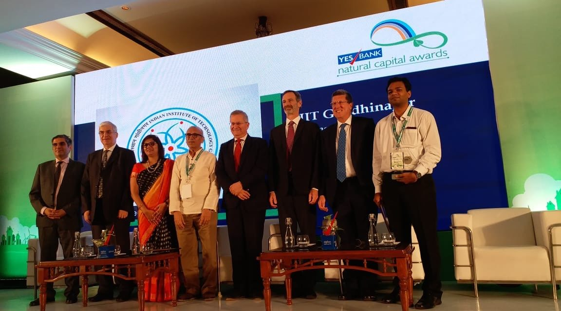 IITGN green initiatives bring YES Bank Natural Capital Award 2018 home