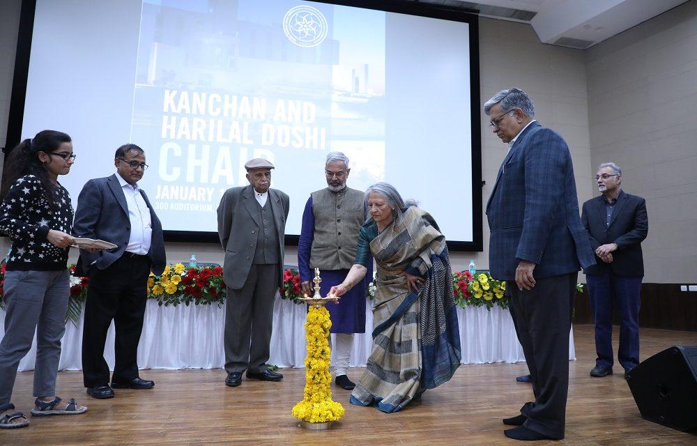 Kanchan & Harilal Doshi Chair established at IITGN