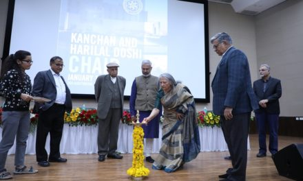 Kanchan & Harilal Doshi Chair established at IITGN