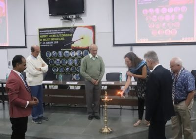 Inauguration of the conference by lighting the lamp